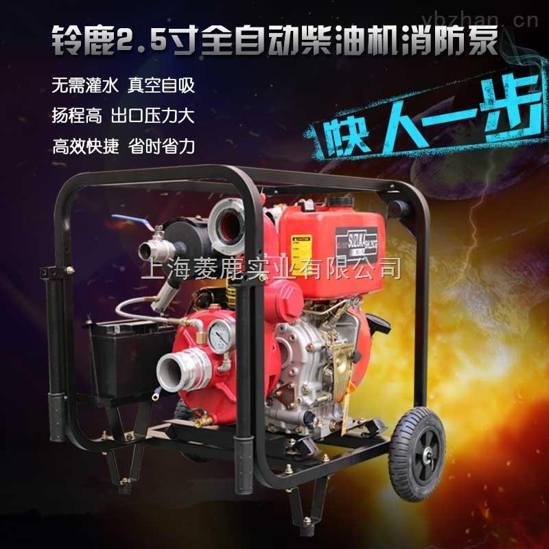 电启动大压力2.5寸柴油机消防泵