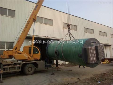 安徽圆形一体化预制泵站 防涝排污设备