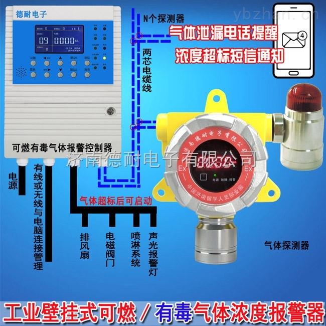 工业罐区氧气泄漏报警器,燃气报警器安装接几根线