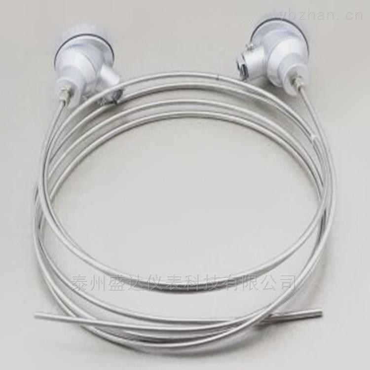 盛达-200-500℃铠装PT100铂热电阻 抗震动易弯曲 WZPK-131