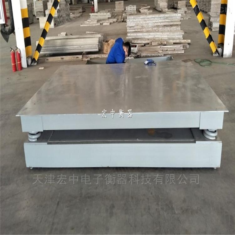 耐沖擊2.5x3.0米緩沖地磅 鋼卷稱重電子秤