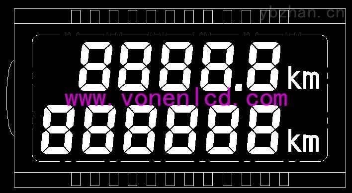 数显水表LCD液晶屏免费送样