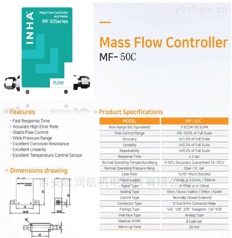 MF-100-經濟型氣體質量流量計
