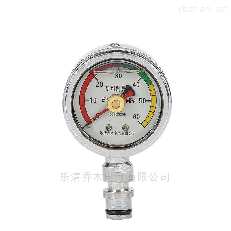 BZY60-礦用儀表礦用耐震雙針壓力表BZY60喬木電氣
