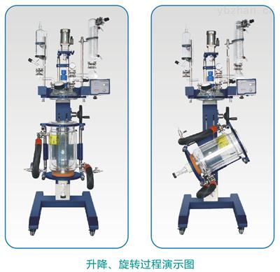 GR-20L可升降可旋转式双层玻璃反应釜