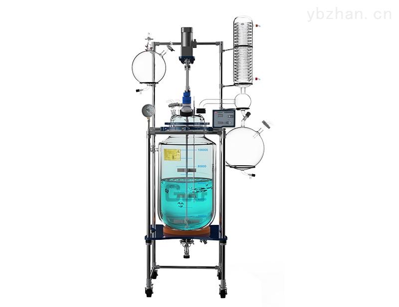 不銹鋼雙層玻璃精餾反應釜廠家報價
