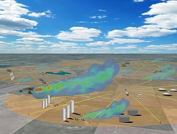 新型空气质量监测系统可对甲烷气体泄漏进行动态监测
