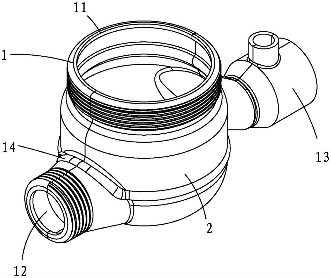 【儀表專利】一種兩半式拼裝水表殼體及其加工方法