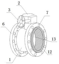 【儀表最新專利】一種便于安裝的法蘭蝶閥