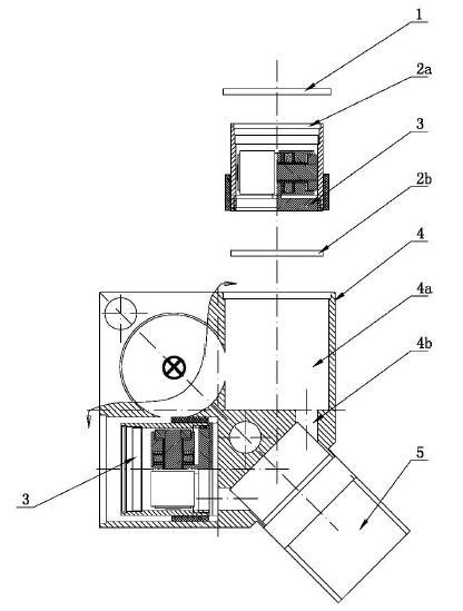 图为本发明装配示意图.-一种适用于工业现场的三轴压电式一体化振