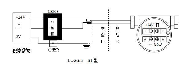 防爆安全栅的接线说明图